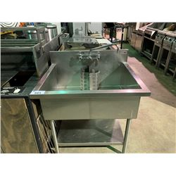 PACIFIC RESTAURANT SUPPLY STAINLESS STEEL DUAL RINSE STATION