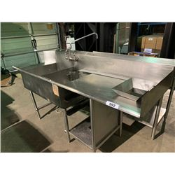 PACIFIC SUPPLY STAINLESS STEEL DUAL SINK RINSE STATION