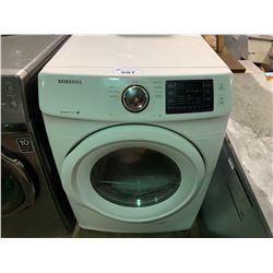 WHITE SAMSUNG MODEL DV42H5000EWAC CLOTHES DRYER