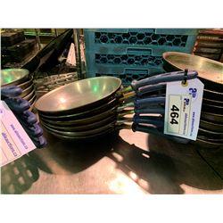 "6 BLUE HANDLED 9"" FRY PANS"