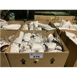 2 BOXES OF ASSORTED RESTAURANT GLASS & DINNERWARE