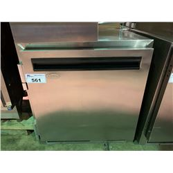 QBD COOLING SYSTEM MODEL RUC27 STAINLESS STEEL REFRIGERATOR