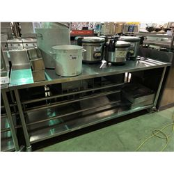 """STAINLESS STEEL 84""""X30"""" MOBILE EQUIPMENT TABLE"""