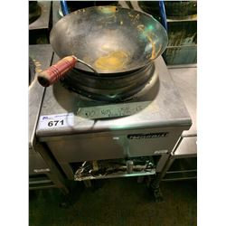 IMPERIAL STAINLESS STEEL COMMERCIAL WOK COOKING STATION(FOR PARTS OR REPAIR)