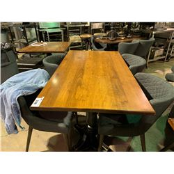 "WOOD & METAL 60"" X 32"" RESTAURANT GRADE TABLE"
