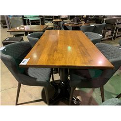 "WOOD & METAL 60"" X 32"" RESTAURANT GRADE TABLE"