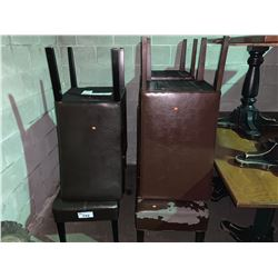 LOT OF ASSORTED LEATHER CHAIRS