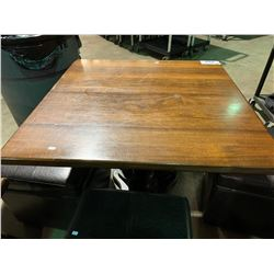 "WOOD & METAL 32"" X 32"" RESTAURANT GRADE TABLE"