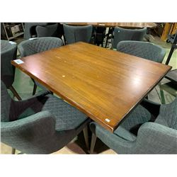 "WOOD & METAL 42"" X 34"" RESTAURANT GRADE TABLE"