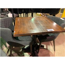 "WOOD & METAL 30"" X 22"" RESTAURANT GRADE TABLE"