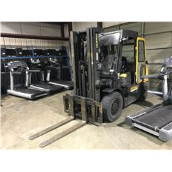 DAEWOO DOOSAN G35S-2 3-STAGE 6600 LBS PROPANE FORKLIFT WITH ENCLOSED CAB & HEAT