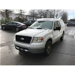2006 FORD F150, WHITE, GAS, AUTOMATIC, VIN#1FTRX12W96FA07707, 115,738KMS, RD,CD,PW,CC,PL,TW,AC, 1