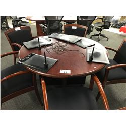 MAHOGANY 4' ROUND CONFERENCE TABLE