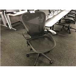 """HERMAN MILLER AERON FULLY ADJUSTABLE MESH BACK ERGONOMIC TASK CHAIR, SIZE LARGE"