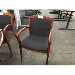 BLACK MAHOGANY FRAME CLIENT CHAIR