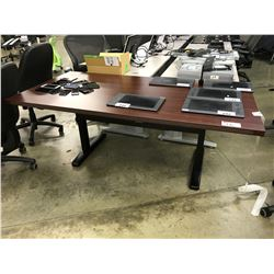 MAHOGANY 6' PNEUMATIC HEIGHT ADJUSTABLE TECH TABLE