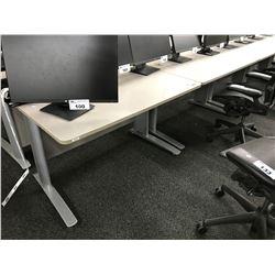 GREY 4' COMPUTER TABLE