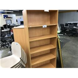 MAPLE 6' ADJUSTABLE SHELF BOOK CASE