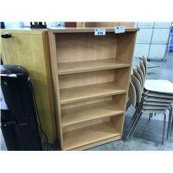 MAPLE 4.5' ADJUSTABLE SHELF BOOK CASE