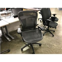 HERMAN MILLER AERON FULLY ADJUSTABLE MESH BACK ERGONOMIC TASK CHAIR, SIZE LARGE