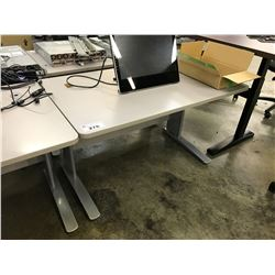 GREY 4' COMPUTER TABLE