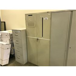 BEIGE 6' STATIONARY CABINET