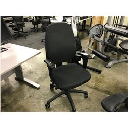BLACK MULTI LEVER HI-BACK TASK CHAIR