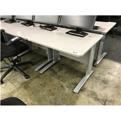 GREY 3' COMPUTER TABLE