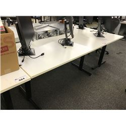 WHITE 5' COMPUTER TABLE