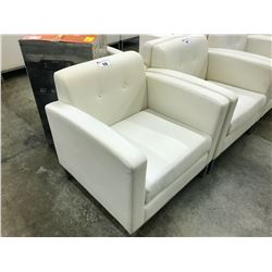 WHITE LOUNGE CHAIR