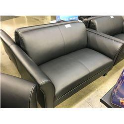 BLACK 2 SEAT LOVE SEAT