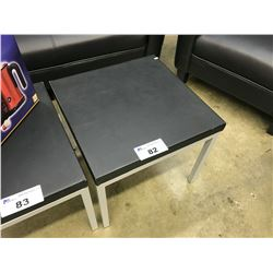 "BLACK 20"" X 20"" END TABLE"
