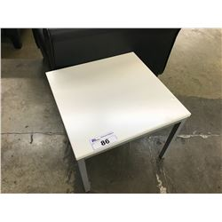 "WHITE 20"" X 20"" END TABLE"