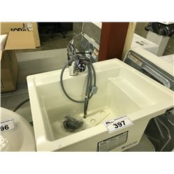 LAUNDRY WASH BASIN WITH SINGLE LEVER FAUCET