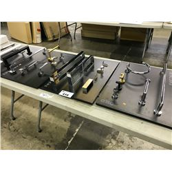 5 PANELS OF ASSORTED KITCHEN/BATHROOM TOWEL BARS, HANDLES AND MORE