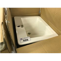 ACRI-TEC 36861 DROP IN RECTANGULAR BATHROOM SINK
