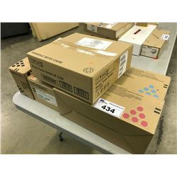 5 BOXES OF RICOH TONER AND PARTS