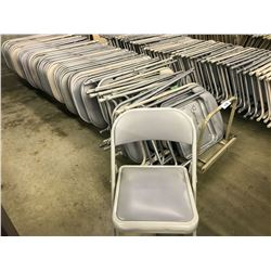 ROLLING CART WITH APPROX. 65 FOLDING CHAIRS