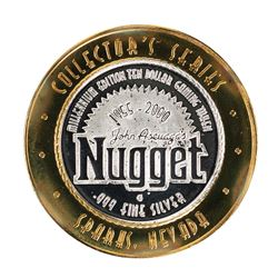 .999 Silver John Ascuagas Nugget Sparks, NV $10 Casino Gaming Token Limited Edition