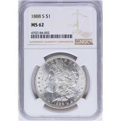 1888-S $1 Morgan Silver Dollar Coin NGC MS62