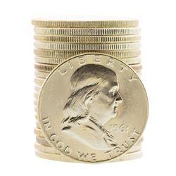 Roll of (20) Brilliant Uncirculated 1961-D Franklin Half Dollar Coins