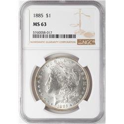 1885 $1 Morgan Silver Dollar Coin NGC MS63