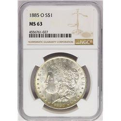 1885-O $1 Morgan Silver Dollar Coin NGC MS63 Amazing Toning