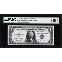 1935B $1 Silver Certificate Note Fr.1611 PMG Gem Uncirculated 66EPQ