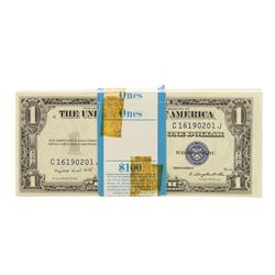 Pack of (100) Consecutive 1935G No Motto $1 Silver Certificate Notes