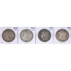 Lot of (4) 1898-S $1 Morgan Silver Dollar Coins