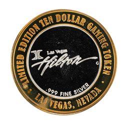 .999 Silver Hilton Las Vegas $10 Casino Limited Edition Gaming Token