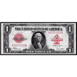 1923 $1 Legal Tender Note Red Seal