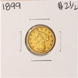 1899 $2 1/2 Liberty Head Quarter Eagle Gold Coin