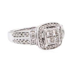 14KT White Gold 1.03 ctw Diamond Wedding Ring